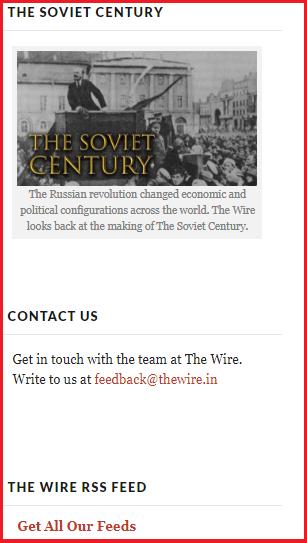 Leftist propaganda website The Wire celebrates Soviet tyrants
